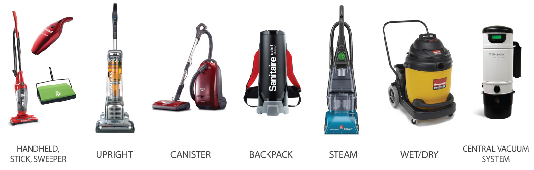 New Vacuums - Vacuum Types